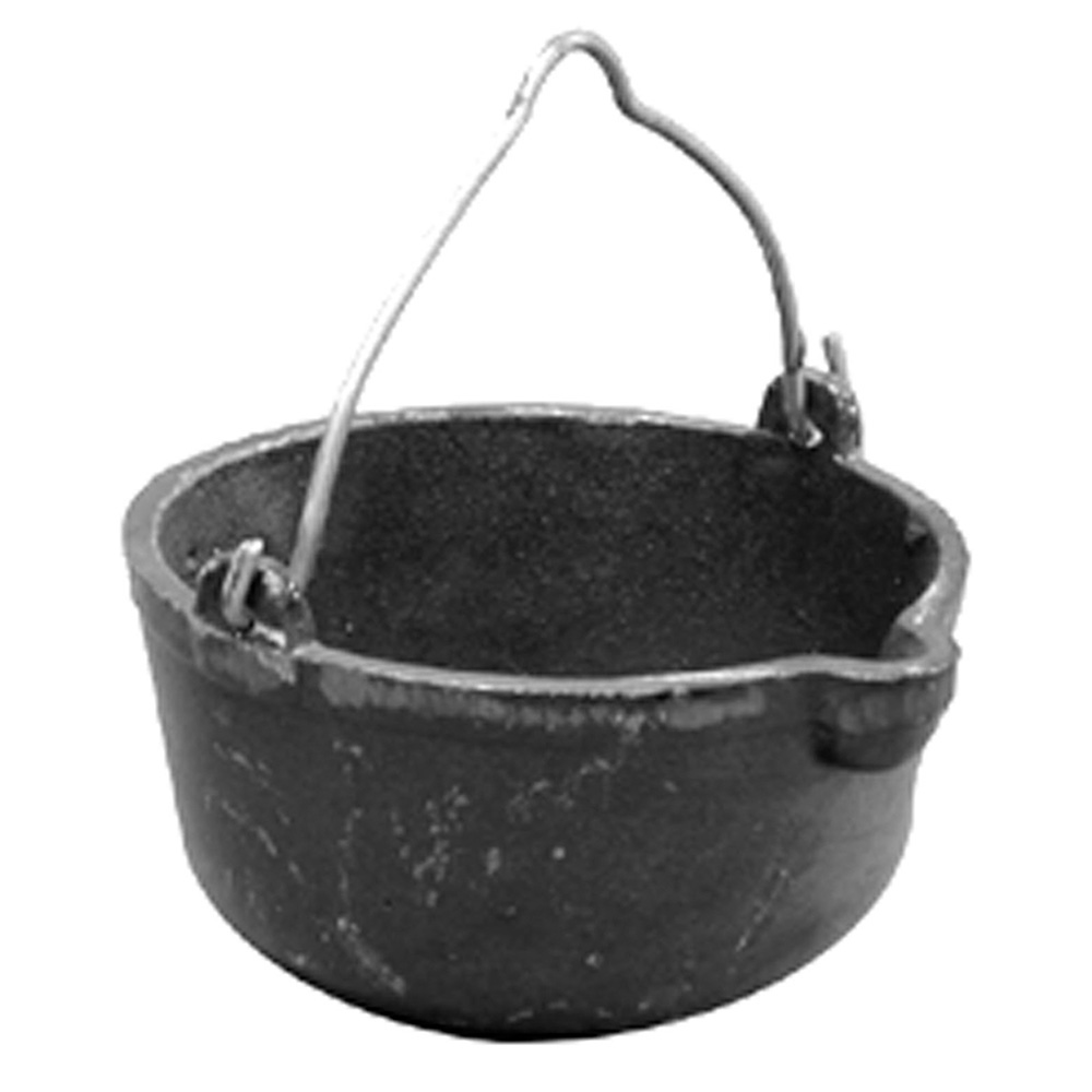 Jones Stephens™ L42008 Wire Handle Lead Melting Pot, 3-1/8 in H x 8 in W, Cast Iron