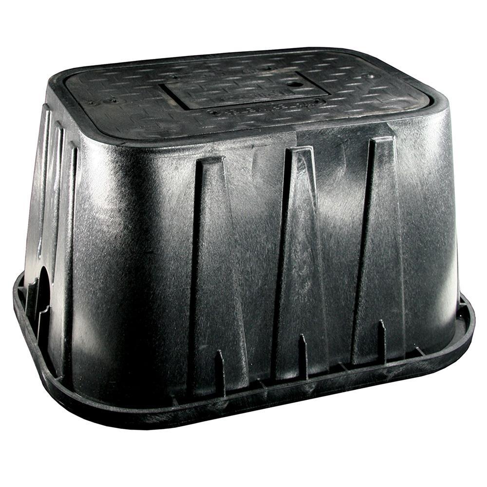 Jones Stephens™ M12022 Water Meter Box Lid Marked Sewer, 12 in H, Domestic