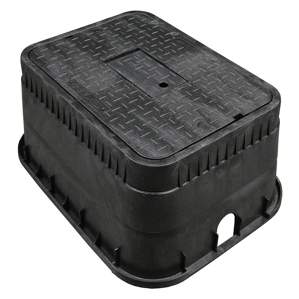 Jones Stephens™ M15002 Jumbo Water Meter Box and Black Reader Lid, 15 in H, Domestic