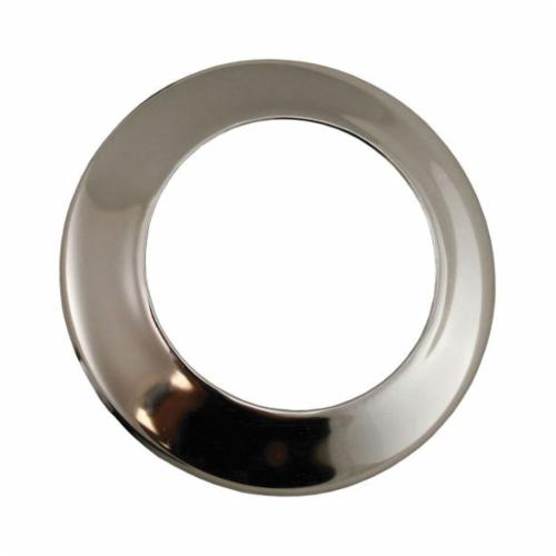 Jones Stephens™ Sure Grip™ E02200 Low Pattern Escutcheon, 3-1/2 in OD, Steel, Polished Chrome