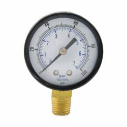 Jones Stephens™ G60100 Pressure Gauge, 100 psi, 1/4 in MNPT Connection, 2 in Dial, 2.5-2 %
