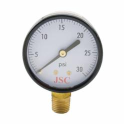 Jones Stephens™ G61030 Pressure Gauge, 30 psi, 1/4 in MNPT Connection, 2-1/2 in Dial, 2.5-2 %