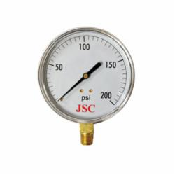 Jones Stephens™ G61200 Pressure Gauge, 200 psi, 1/4 in MNPT Connection, 2-1/2 in Dial, 2.5-2 %