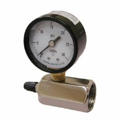 Jones Stephens™ G64200 Gas Test Gauge Assembly With Brass Air Valve, 200 psi, 3/4 in FNPT Connection, 2 in Dial
