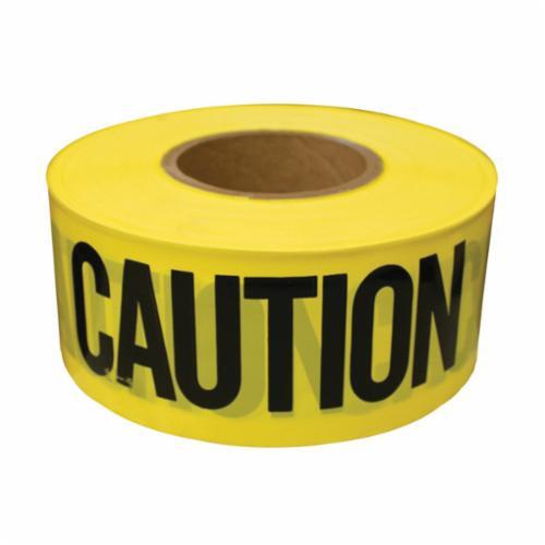 Jones Stephens™ J43310 Non-Stick Caution Tape, Black on Yellow, 3 in W x 1000 ft L, Caution