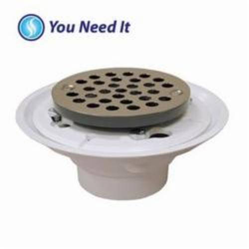 Jones Stephens™ D50001 Shower/Floor Drain, 4 in, PVC Drain