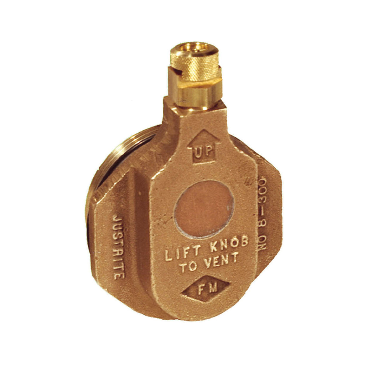 Justrite® 08204 Safety Fill Vent With 6 in Flame Arrester, 2 in NPT/NPS Bung, Brass, Brass