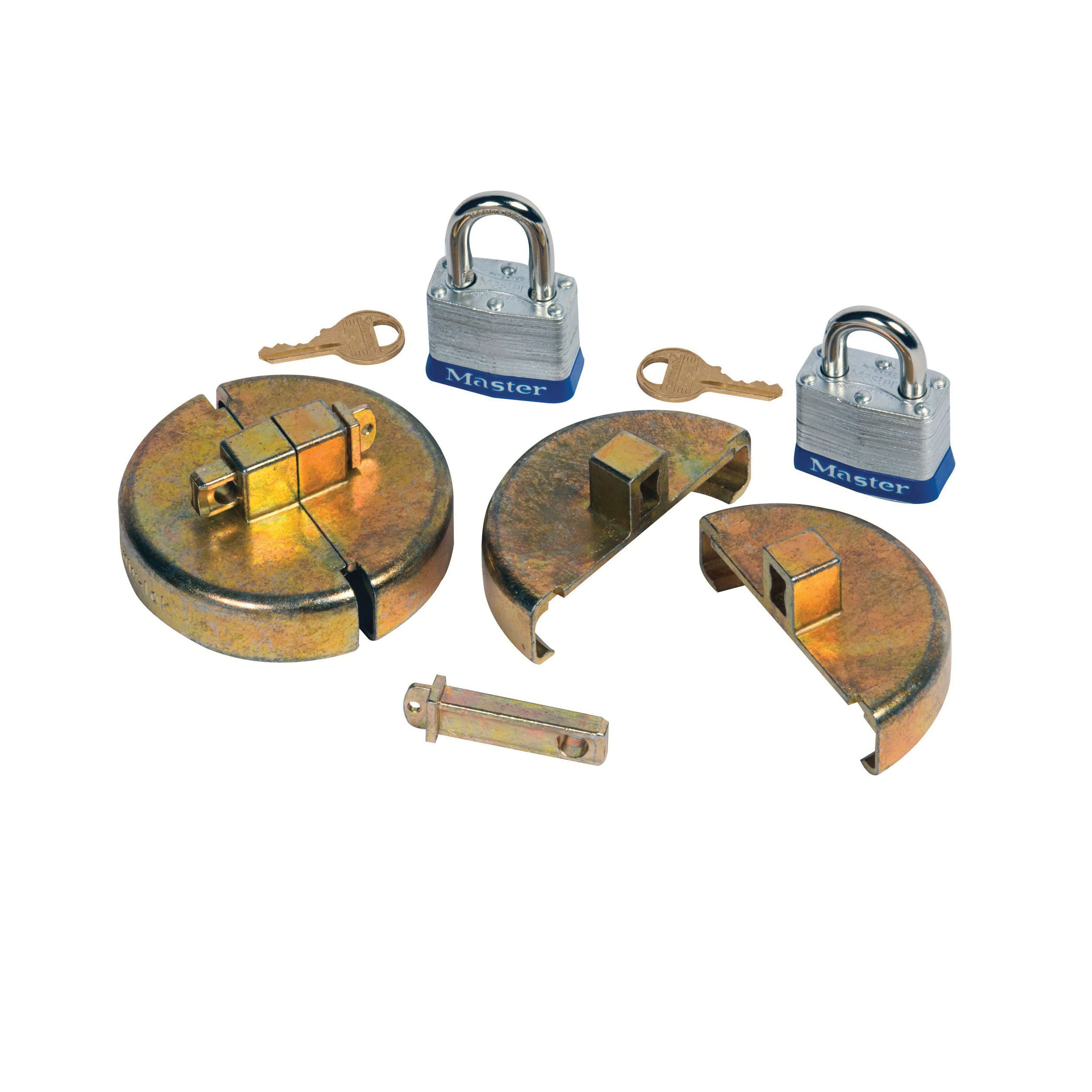 Justrite® 08510 Drum Lock Set, For Use With 55 gal Steel Drums, Zinc, Brass