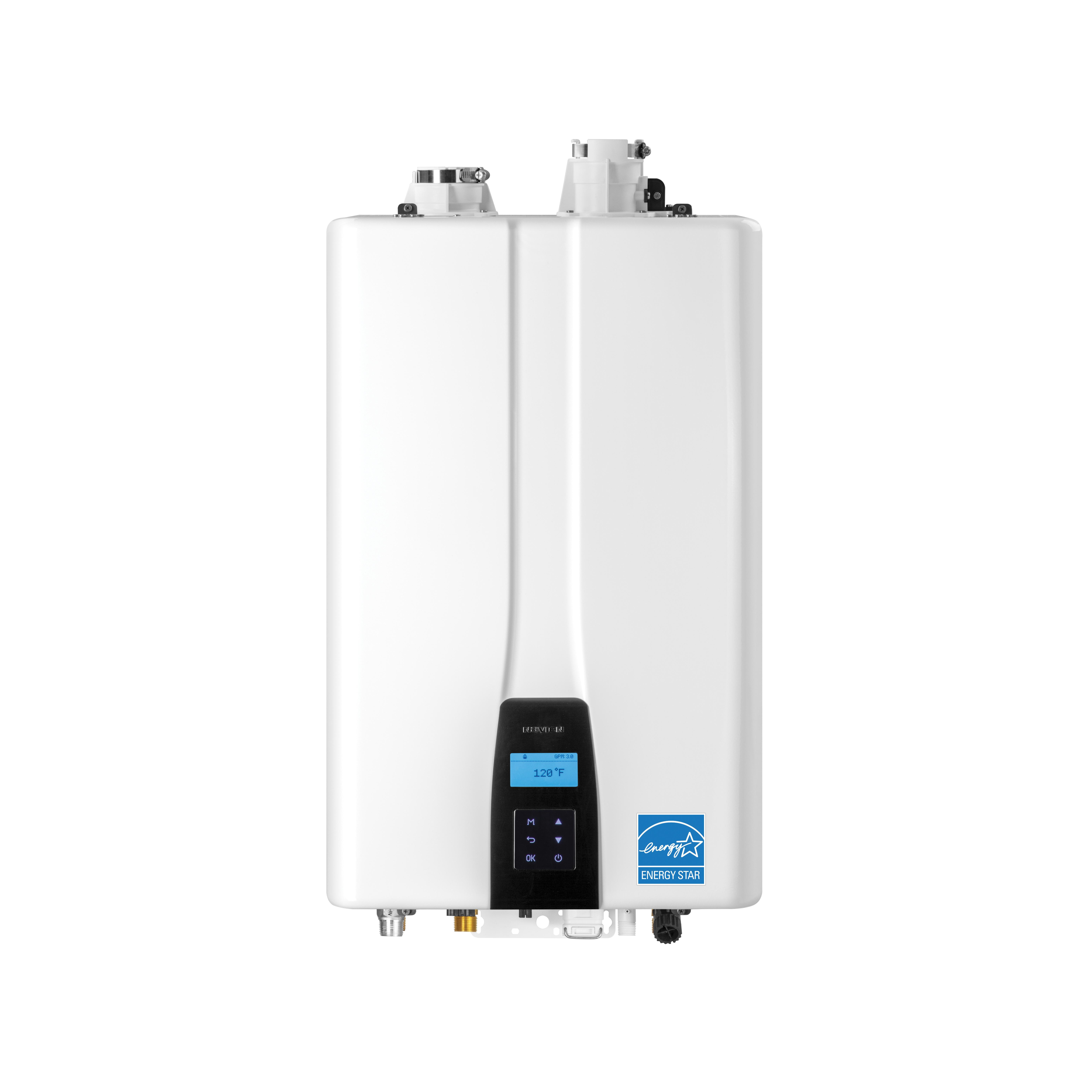 KD Navien® NPE-150S2 NPE-S2 Series High Efficiency Premium Standard Tankless Gas Water Heater, Natural Gas/Liquid Propane Fuel, 18000 to 120000 Btu/hr Heating, Indoor/Outdoor: Indoor/Outdoor, Condensing, 6.8 gpm at 35 deg F Flow Rate, 2 in Vent, Dual