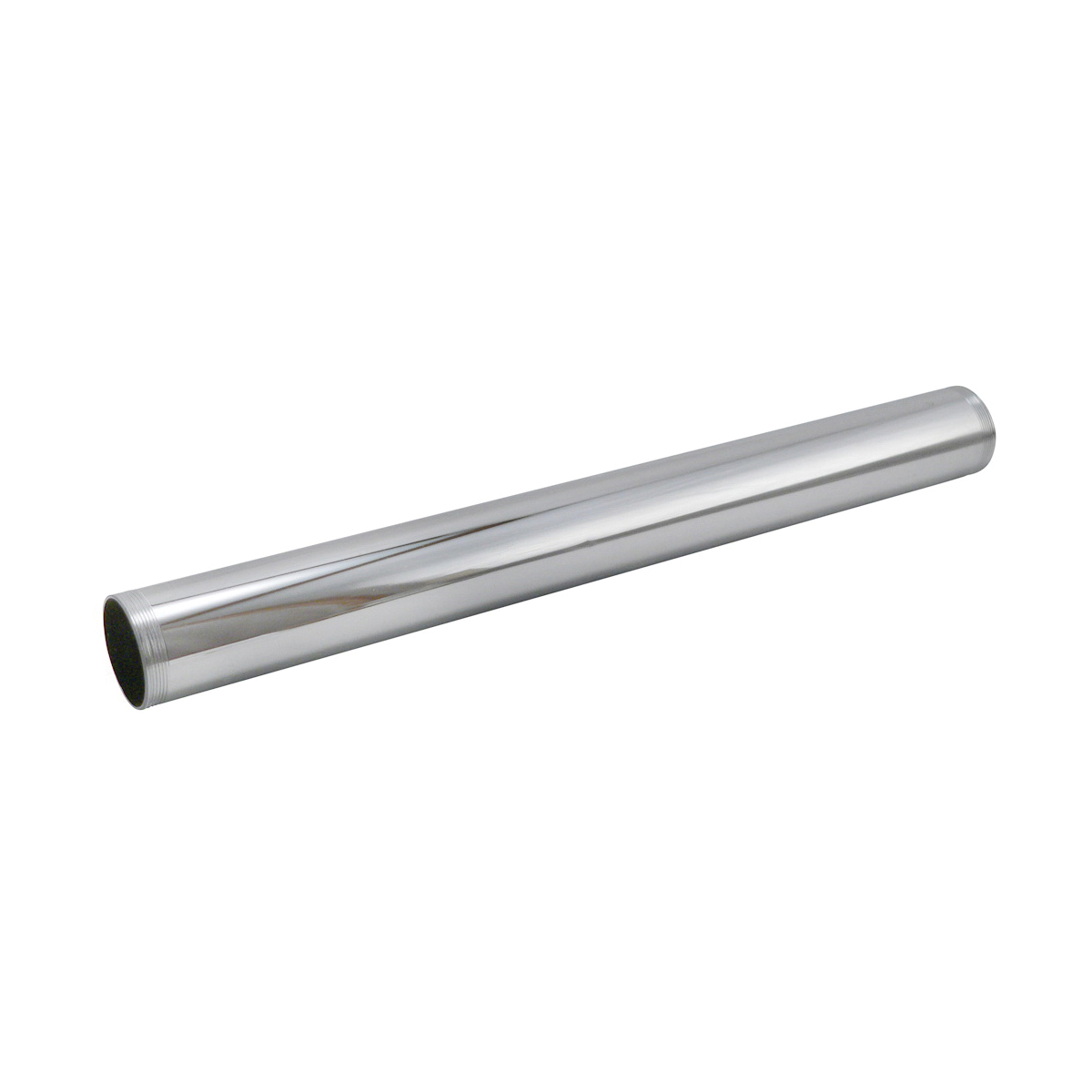 Keeney 1773PC TBE Tube, 1-1/4 in ID x 12 in L, 17 ga Brass, Polished Chrome, Import