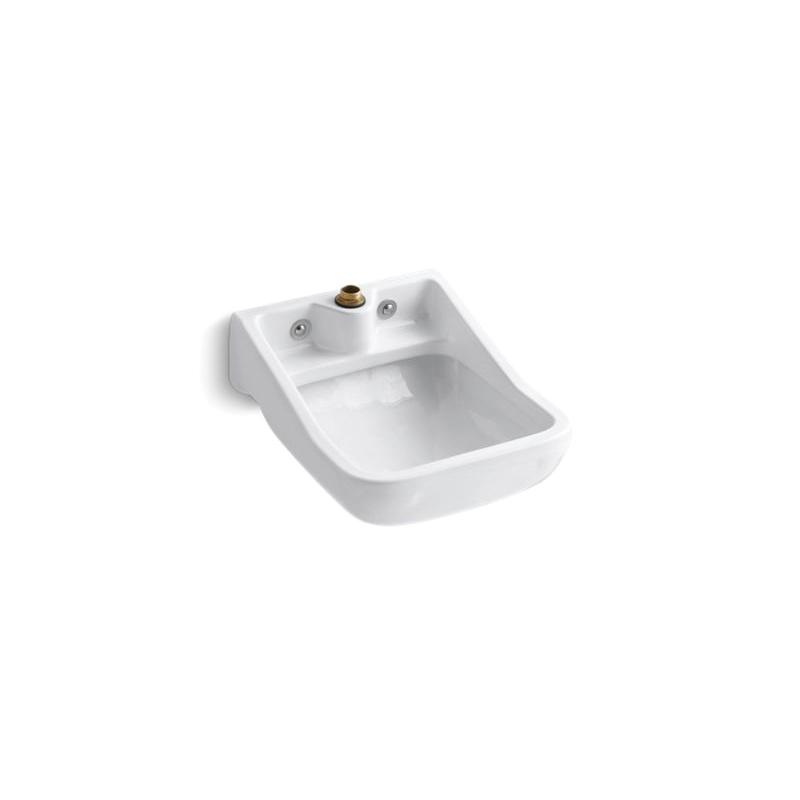 Kohler® 12867-0 Service Sink, Camerton™, Rectangular, 21-1/2 in W x 25 in H, Wall Mount, Vitreous China, White