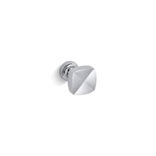 Kohler® 16262-CP Knob Cabinet Hardware, Margaux®, For Use With Bathroom/Powder Room Cabinet, Metal, Polished Chrome