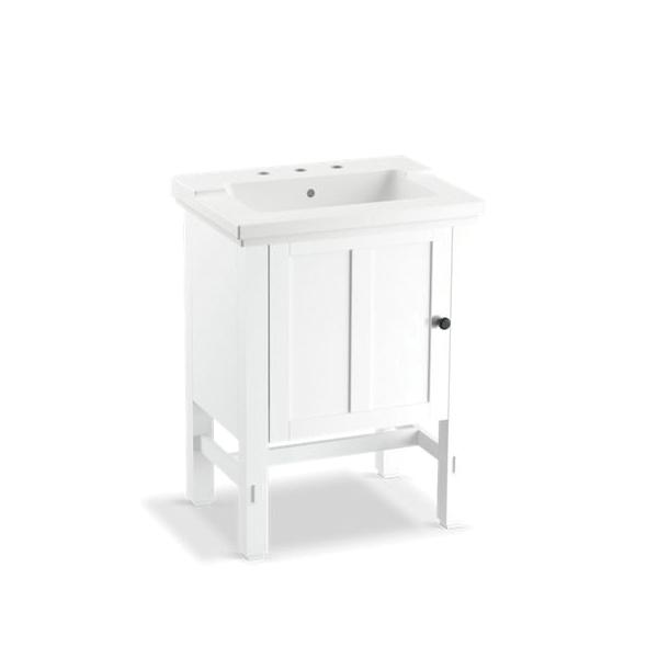 Kohler® 2604-1WA Vanity, Tresham®, 32-1/2 in OAH x 23-3/4 in OAW x 18-1/4 in OAD, Freestanding Mount, Linen White Cabinet