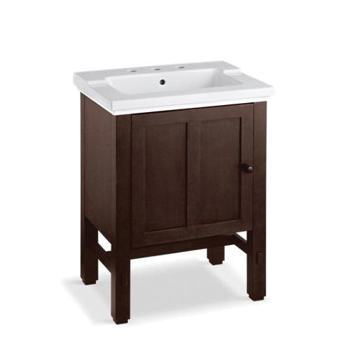 Kohler® 2604-F69 Vanity, Tresham®, 32-1/2 in OAH x 23-3/4 in OAW x 18-1/4 in OAD, Freestanding Mount, Woodland Cabinet