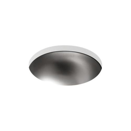 Kohler® 2610-SU-NA Bathroom Sink, Bolero®, Round Shape, 13-5/8 in W x 5-7/8 in H, Drop-In Mount, Stainless Steel, Satin