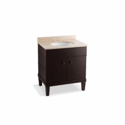 Kohler® 2732-F80 3-Piece Bathroom Vanity Cabinet, Evandale®, 36-1/2 in OAH x 30 in OAW x 21 in OAD, Freestanding Mount