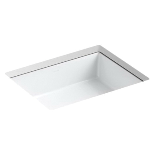 Kohler® 2882-0 Bathroom Sink With Overflow, Verticyl®, Rectangular, 19-13/16 in W x 15-5/8 in D x 6-3/4 in H, Under Mount, Vitreous China, White