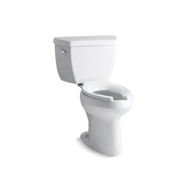 Kohler® 3493-0 Highline® Classic Comfort Height® 2-Piece Toilet, Elongated Bowl, 17-1/8 in H Rim, 12 in Rough-In, 1.6 gpf Flush Rate, White