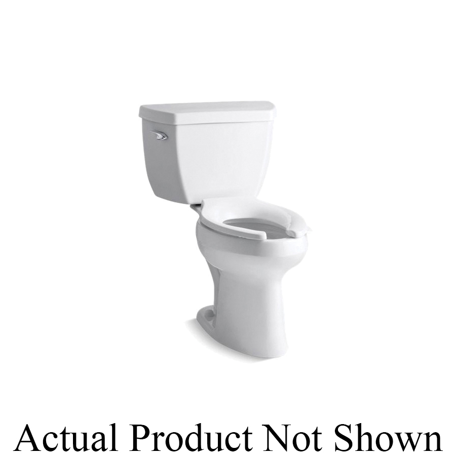 Kohler® 3493-SS-0 Highline® Classic Comfort Height® 2-Piece Toilet, Elongated Front Bowl, 17-1/8 in H Rim, 12 in Rough-In, 1.6 gpf Flush Rate, White