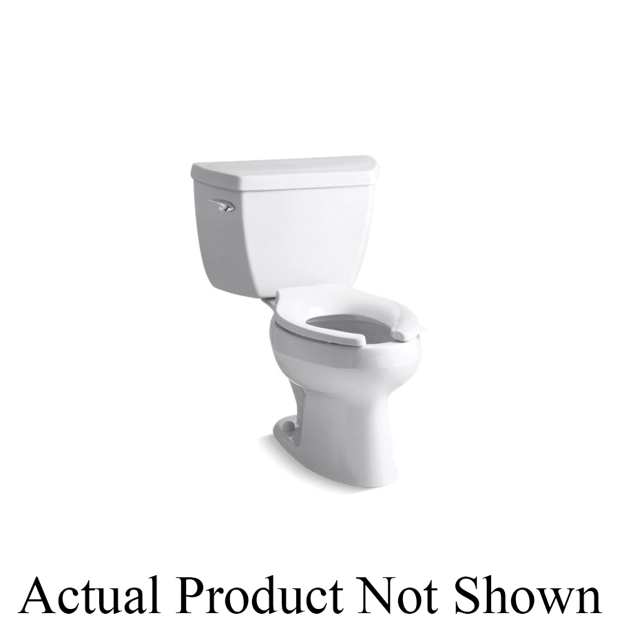 Kohler® 3505-SS-0 Wellworth® Classic 2-Piece Toilet, Elongated Front Bowl, 15-1/2 in H Rim, 12 in Rough-In, 1.6 gpf Flush Rate, White