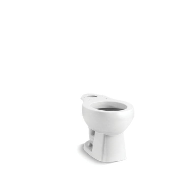 Sterling® 403015-0 Toilet Bowl, Glossy White, Round Front, 12 in Rough-In, Windham™