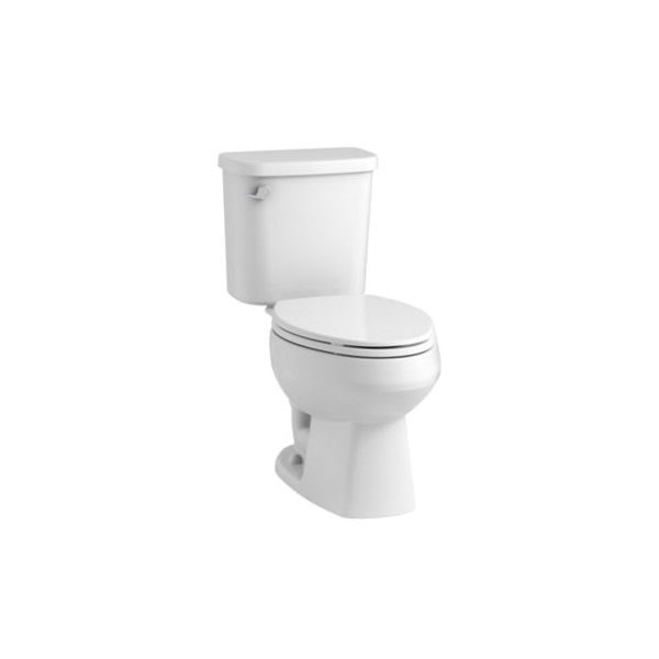 Sterling® Pro Force® 403081-0 Windham™ 2-Piece Toilet, Elongated Front Bowl, 15 in H Rim, 12 in Rough-In, 1.28 gpf Flush Rate, White