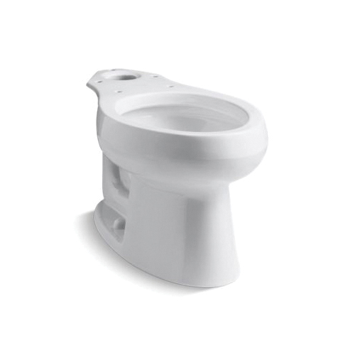 Kohler® 4198-0 Toilet Bowl, White, Elongated, 12 in Rough-In, 5-1/4 in H Rim, 2-1/8 in Trapway, Wellworth®