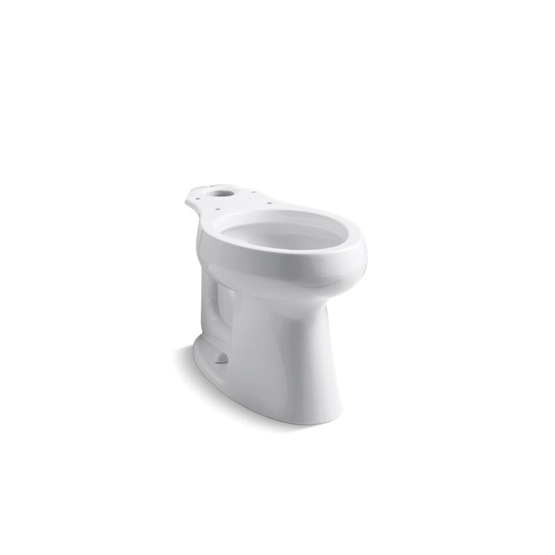 Kohler® 4199-0 Toilet Bowl, White, Elongated, 12 in Rough-In, 5-3/8 in H Rim, 2-1/8 in Trapway, HighLine®