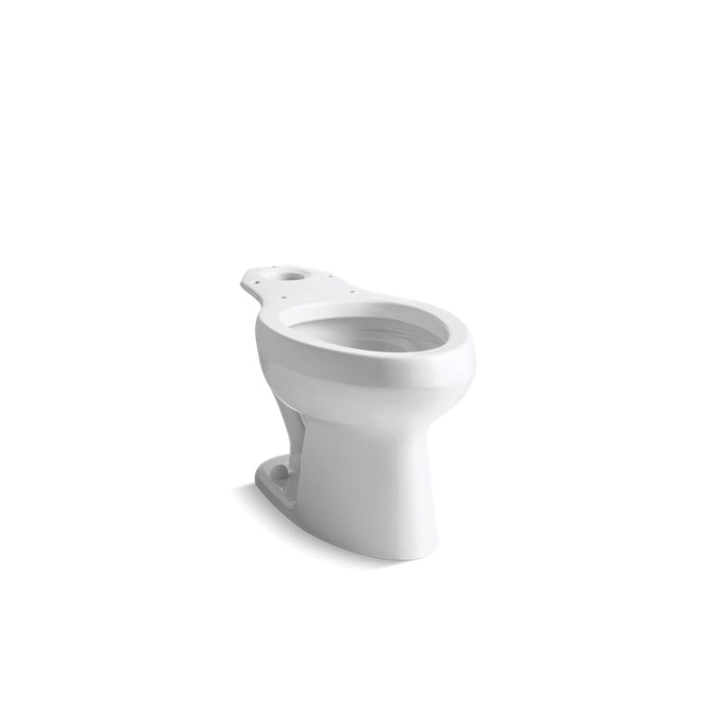 Kohler® 4303-0 Toilet Bowl, White, Elongated, 12 in Rough-In, 2-1/4 in Trapway, Wellworth®