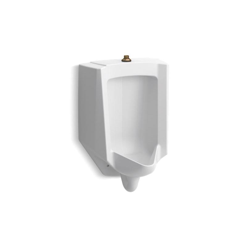 Kohler® 4991-ET-0 High Efficiency Washdown Urinal, Bardon™, 0.125/1 gpf, Top Spud, Wall Mount, White