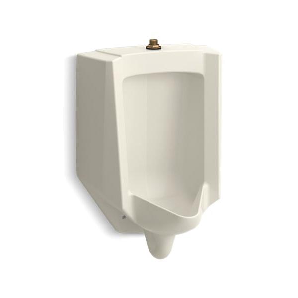 Kohler® 4991-ET-96 High Efficiency Washdown Urinal, Bardon™, 0.125 gpf, Top Spud, Wall Mount, Biscuit