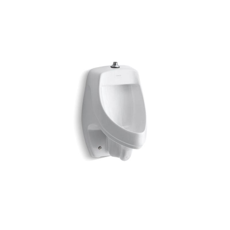 Kohler® 5016-ET-0 Siphon-jet Urinal, Dexter™, 0.5/1 gpf, Top Spud, Wall Mount, White