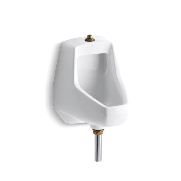 Kohler® 5024-T-0 Washdown Urinal, Darfield™, 0.5/1 gpf, Top Spud, Wall Mount, White