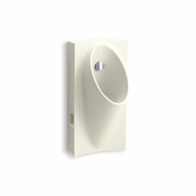 Kohler® 5244-ER-96 High Efficiency Hybrid Urinal With Flexible Hose, Steward®, 0.125 gpf, Rear Spud, Wall Mount, Biscuit
