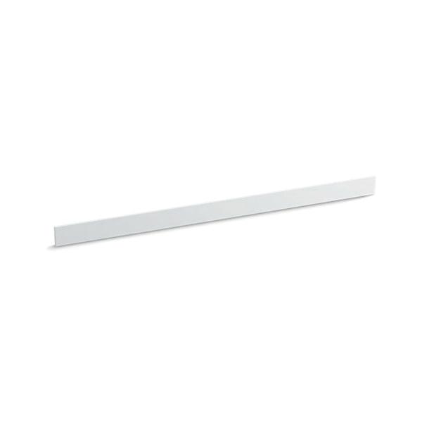 Kohler® 5448-S33 Bathroom Vanity Top Back Splash, Solid/Expressions™, 61 in L x 3-1/2 in W x 1/2 in THK, Stone Composite, White