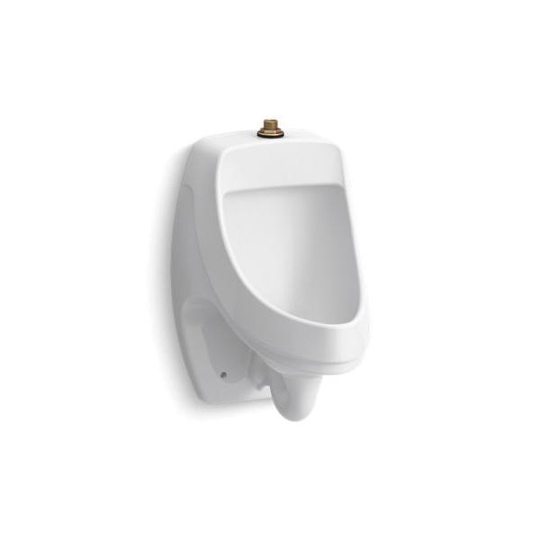 Kohler® 5452-ET-0 Washdown Urinal With Top Spud, Dexter™, 0.125/1 gpf, Top Spud, Wall Mount, White