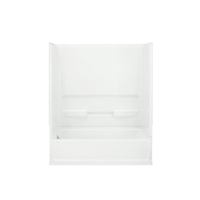 Sterling® 61030410-0 Bath/Shower, Advantage™, 60 in L x 30 in W x 72 in H, Vikrell®, White