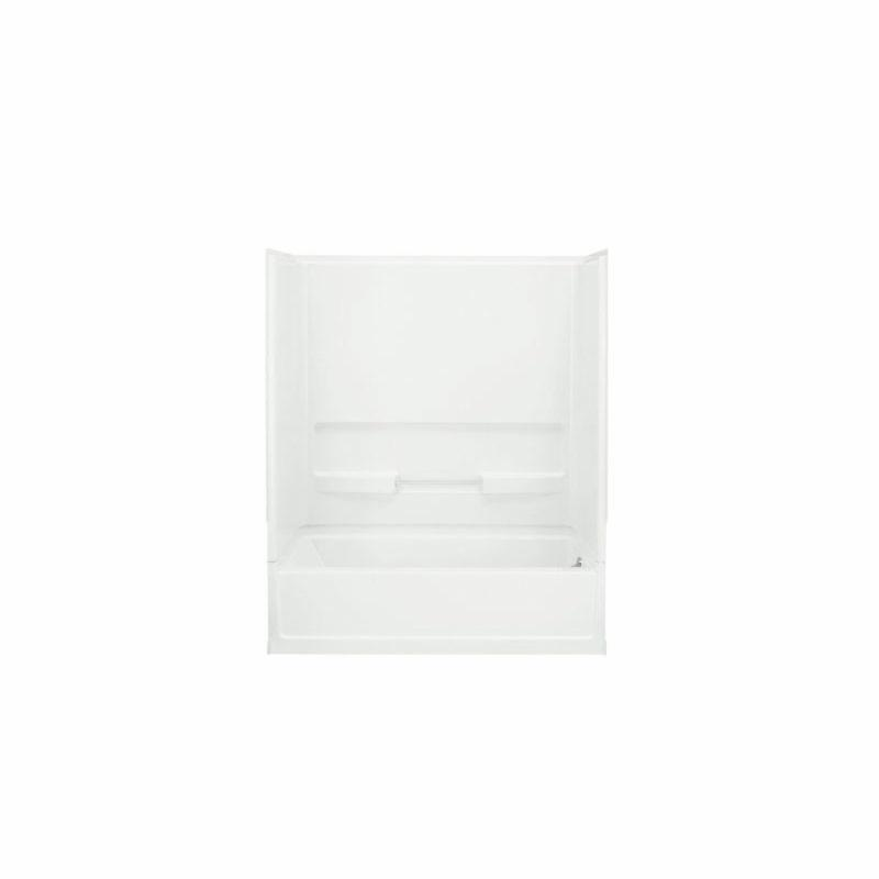 Sterling® 61030120-0 Bath/Shower Wall Set, Advantage™, 60 in L x 30 in W x 72 in H, Solid Vikrell®, Swirl-Gloss/White