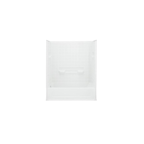 Sterling® 61040110-0 Bath/Shower, All Pro®, 60 in L x 30 in W x 72-3/4 in H, Vikrell®, White