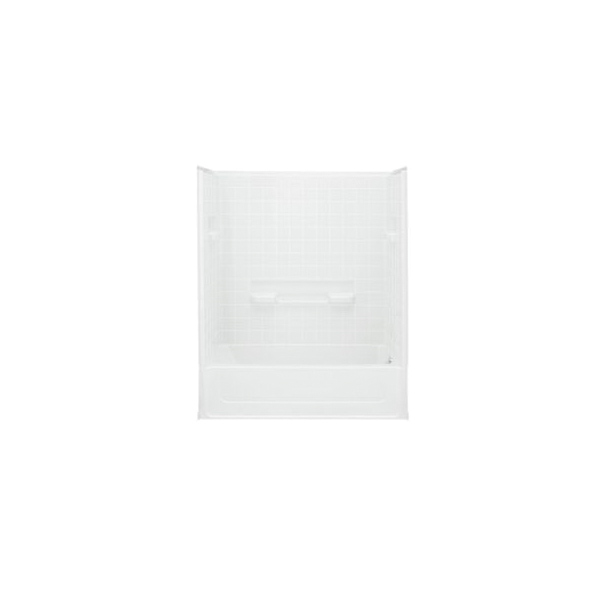 Sterling® 61040120-0 Bath/Shower, All Pro®, 60 in L x 30 in W x 72-3/4 in H, Vikrell®, White