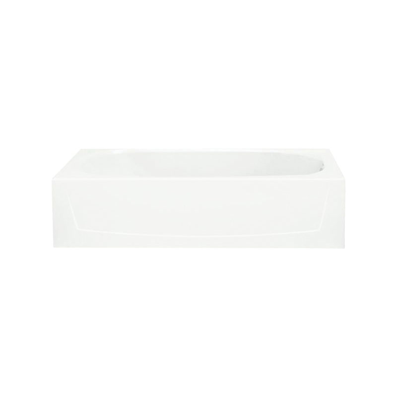 Sterling® 71041122-0 Bathtub, Performa™, Soaking Hydrotherapy, Rectangular, 60 in L x 29 in W, Right Drain, White