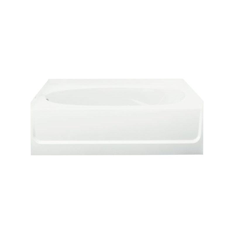 Sterling® 71111112-0 Bathtub, Ensemble™, Oval Shape, 60 in L x 42 in W, Left Drain, White