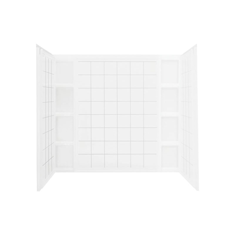 Sterling® 71114100-0 3-Piece Tile Bath/Shower Wall Set, Ensemble™, 60 in L x 43-1/2 in W x 54-1/4 in H, Solid Vikrell®
