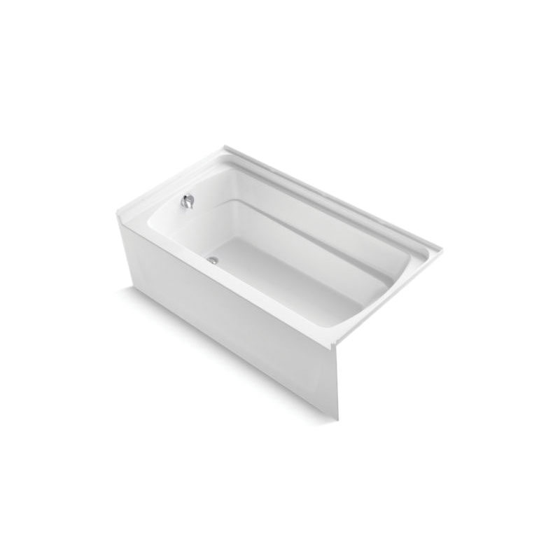 Sterling® 71121110-0  Bathtub, Ensemble™, Rectangular, 60 in L x 32-1/8 in W, Left Drain, High Gloss White