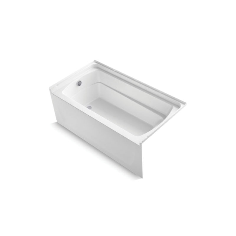 Sterling® 71121112-0 Bathtub, Ensemble™, Rectangular Shape, 60 in L x 32-1/8 in W, Left Drain, White