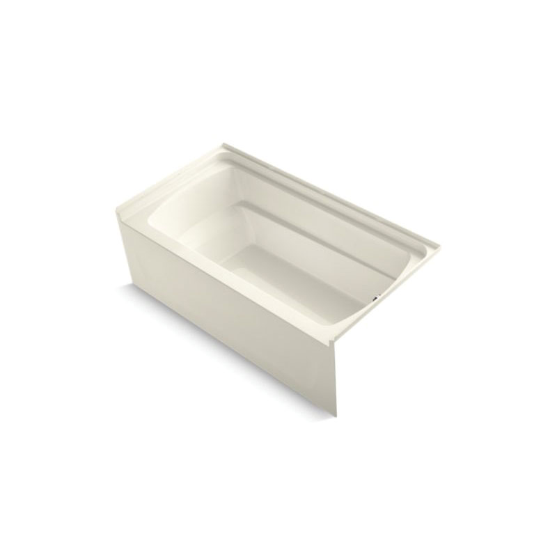 Sterling® 71121120-96 Bathtub, Ensemble™, Rectangular, 60 in L x 32-1/8 in W, Right Drain, Biscuit