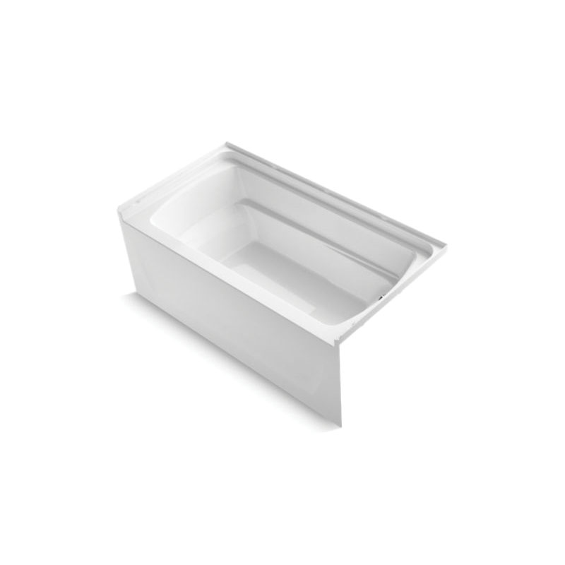 Sterling® 71121122-0 Bathtub, Ensemble™, Rectangular Shape, 60 in L x 32-1/8 in W, Right Drain, White