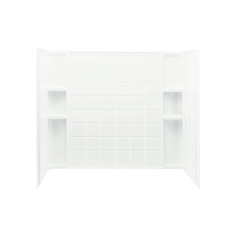 Sterling® 71124100-0 Bath/Shower Wall Set, Ensemble™, 60 in L x 33-1/4 in W x 55-1/4 in H, Solid Vikrell®