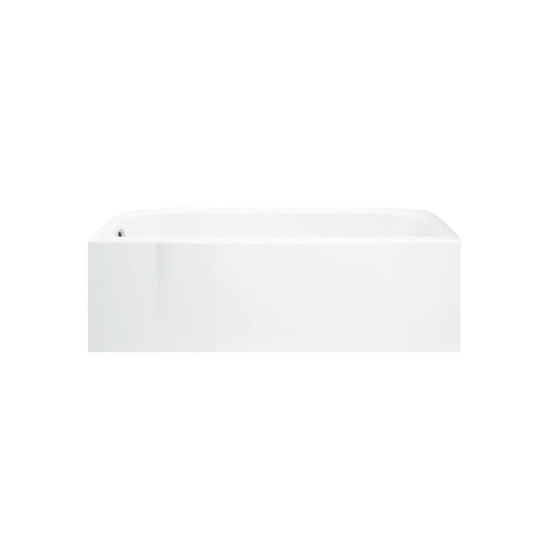 Sterling® 71141110-0 Bathtub, Accord®, Soaking Hydrotherapy, Rectangular, 60 in L x 30 in W, Left Drain, High Gloss White