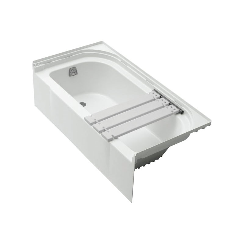Sterling® 71141114-0 Bathtub With Seat on Right, Accord®, Soaking Hydrotherapy, Rectangular, 60 in L x 30 in W, Left Drain, White